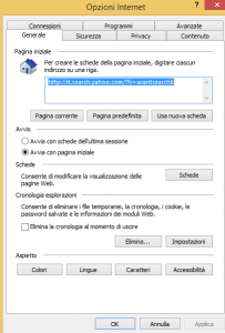come cancellare virus da internet explorer 1