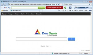 come eliminare delta search