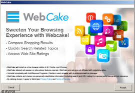 come eliminare WebCake Toolbar