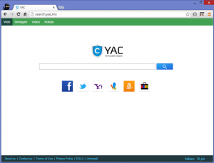 come eliminare search.yac.mx dal computer
